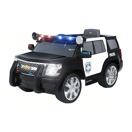 Rollplay Chevy Tahoe Police Car 6 Volt Battery Ride-On Vehicle