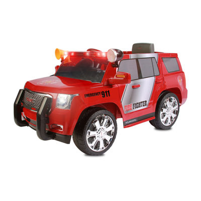 Rollplay GMC Yukon Denali Fire Rescue 6 Volt Battery Ride-On Vehicle