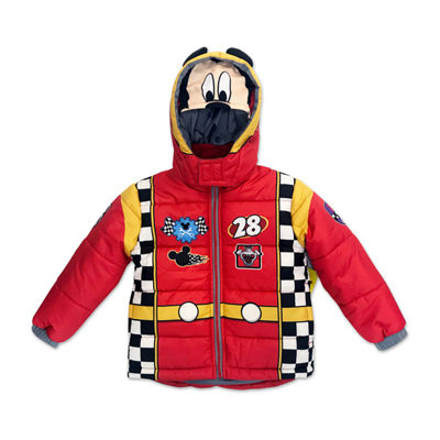 Outerwear - Boys Mickey Mouse Heavyweight Puffer Jacket-Toddler