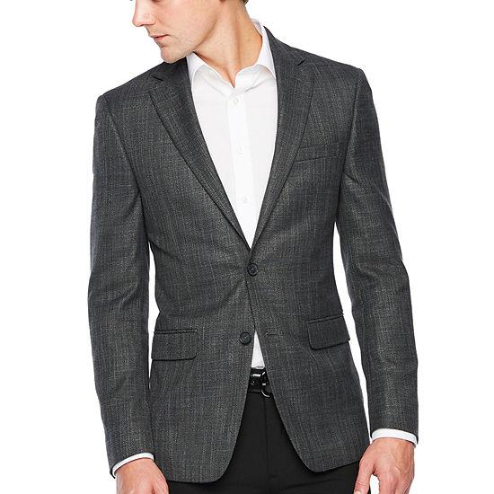 Claiborne Charcoal Slim Fit Sport Coat