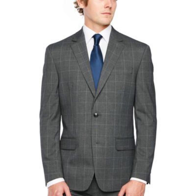 IZOD Checked Classic Fit Stretch Suit Jacket