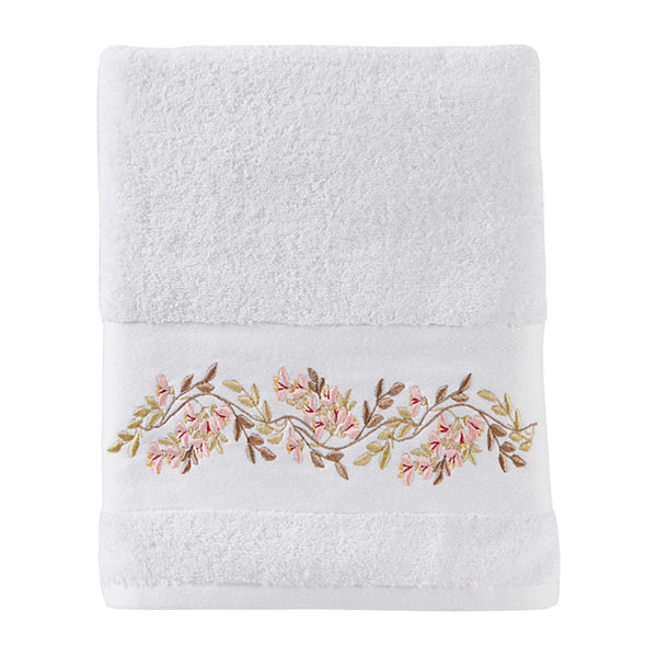 Saturday Knight Misty Floral Embroidered Bath Towel