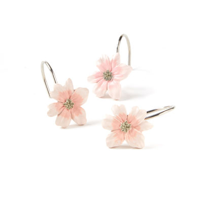 Saturday Knight Misty Floral Shower Curtain Hooks