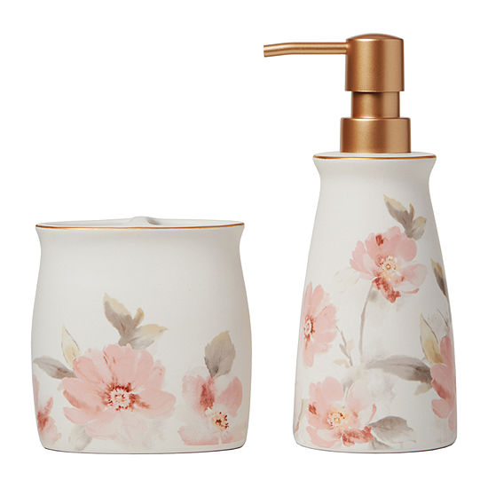 Saturday Knight Misty Floral Soap/Lotion Dispenser