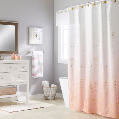 Saturday Knight Splatter Shower Curtain