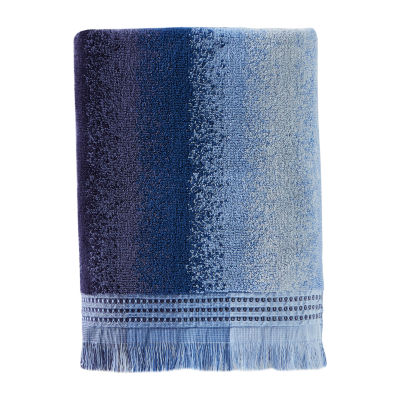 Saturday Knight Batik Blues Eckhart Stripe Bath Towel