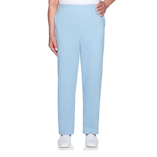 Alfred Dunner At Ease Womens High Waisted Straight Pull-On Pants