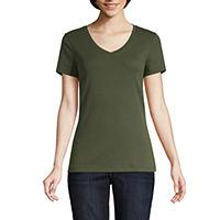 JCPenney deals on 5-Pack St. Johns Bay-Womens V Neck Short Sleeve T-Shirt
