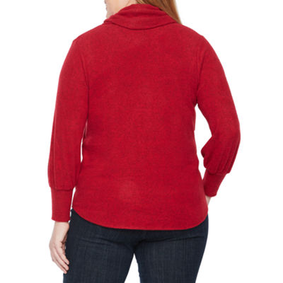 Alyx Balloon Sleeve Cowl Neck Knit Top - Plus