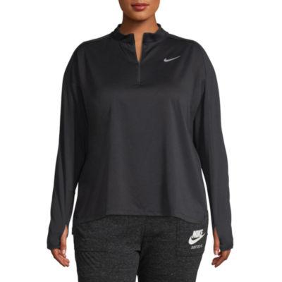 Nike Long Sleeve Knit Half Zip Pullover-  Plus