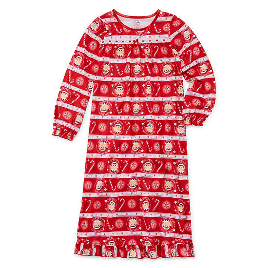 Elf on the Shelf Long Sleeve Nightgown - Girls