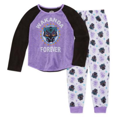 Black Panther 2pc.Pant Pajama Set - Girls
