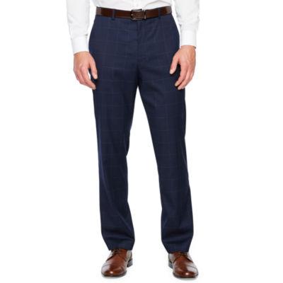 JF J.Ferrar Windowpane Classic Fit Stretch Suit Pants