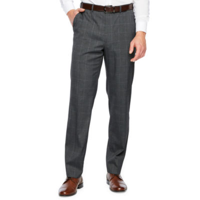 IZOD Checked Classic Fit Stretch Suit Pants