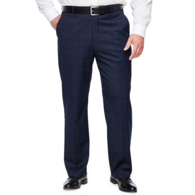 JF J.Ferrar Windowpane Classic Fit Stretch Suit Pants - Big and Tall