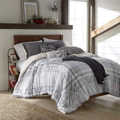 JCPenney Home Mink/Sherpa Heavyweight Reversible Comforter