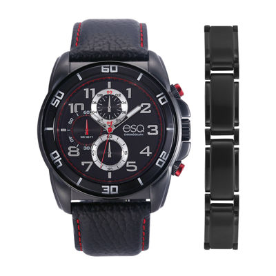 Esq Mens Black Watch Boxed Set-37esq0210set