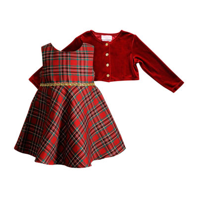 Young Land Sleeveless Plaid A-Line Dress - Baby Girls