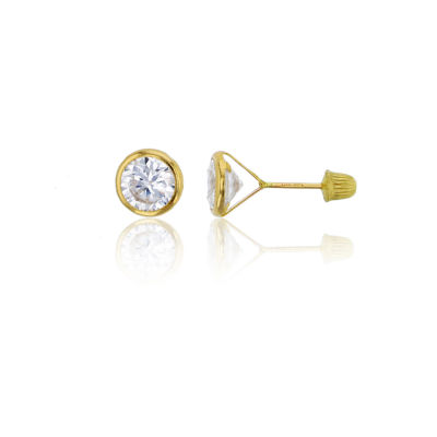 1 5/8 CT. T.W. White Cubic Zirconia 14K Gold 5mm Round Stud Earrings