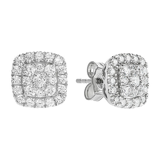 Grown With Love 5/8 CT. T.W. Lab Grown Diamond 10K White Gold 8.9mm Stud Earrings