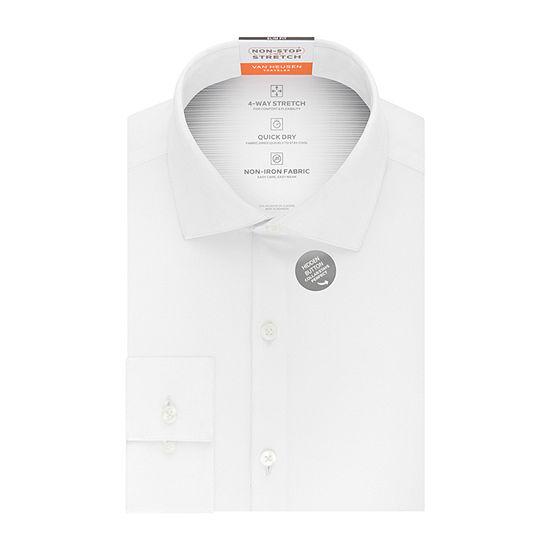 Van Heusen Traveler Long Sleeve Elastane Dress Shirt - Slim
