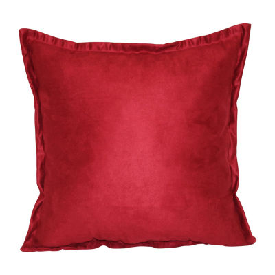 Brentwood Originals Flange Suede Pillows