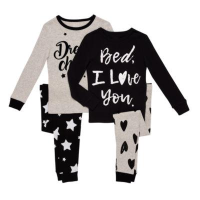 Night Life 4-pc. Pant Pajama Set Girls