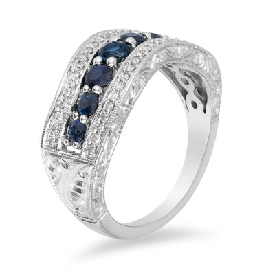 Womens 1/2 CT. T.W. Blue Sapphire 10K Gold Engagement Ring