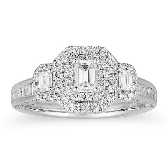 LIMITED QUANTITIES! Womens 1 1/4 CT. T.W. Genuine White Diamond 14K White Gold Engagement Ring