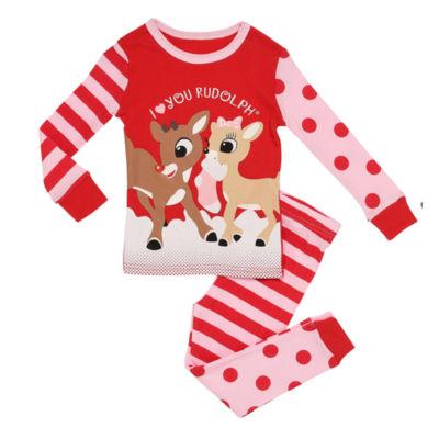 Rudolph The Red Nose Reindeer 2-pc. Pant Pajama Set Girls