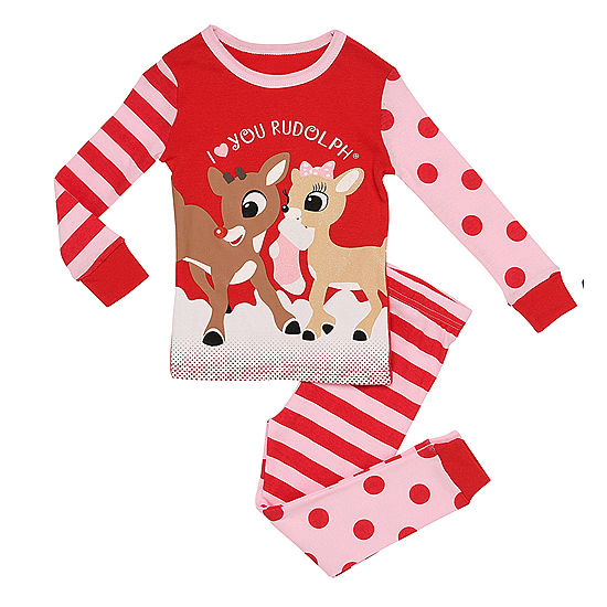 Rudolph The Red Nose Reindeer 2-pc. Pant Pajama Set Girls - JCPenney 4fcc2c8bf