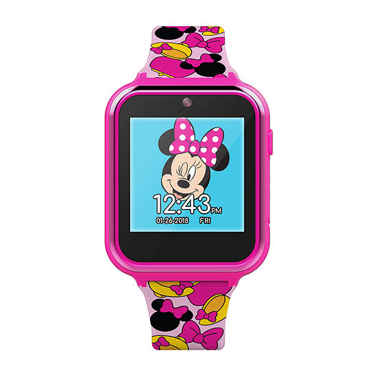 Disney Minnie Mouse Girls Pink Smart Watch-Mn4116jc