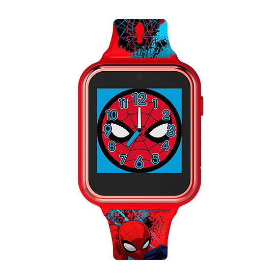 Marvel Spiderman Boys Red Smart Watch-Spd4588jc