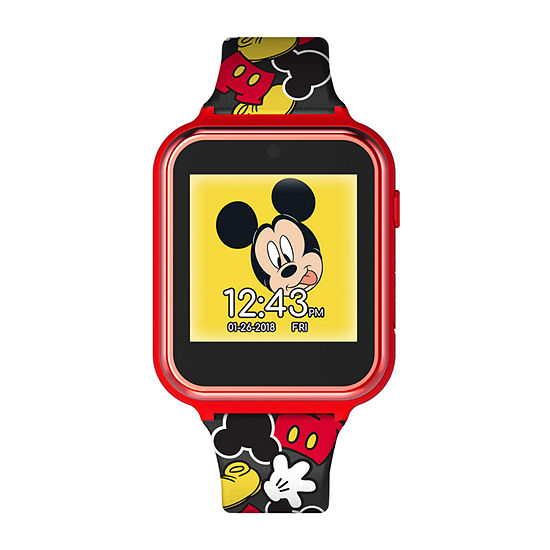 Disney Collection Mickey Mouse Boys Black Strap Watch-Mk4089jc
