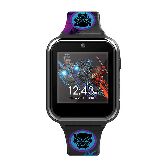 Marvel Black Panther Boys Black Smart Watch-Avg4608jc