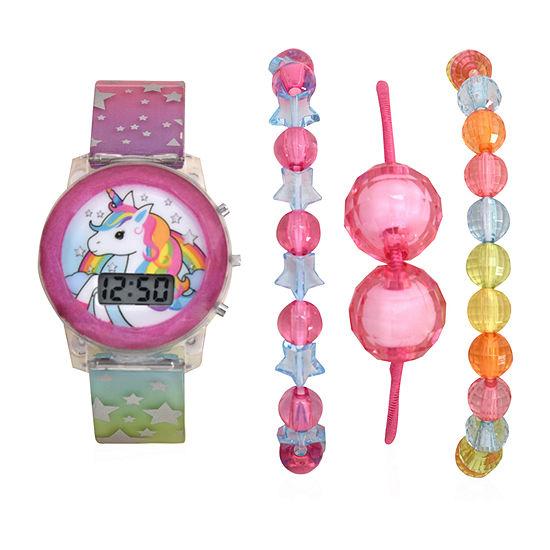 Girls Digital Multicolor Watch Boxed Set-Atc40002jc