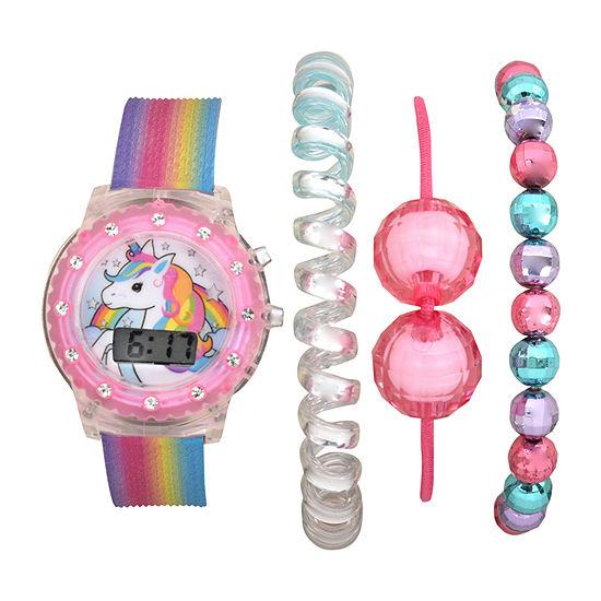 Girls Digital Multicolor 4-pc. Watch Boxed Set Atc40005jc