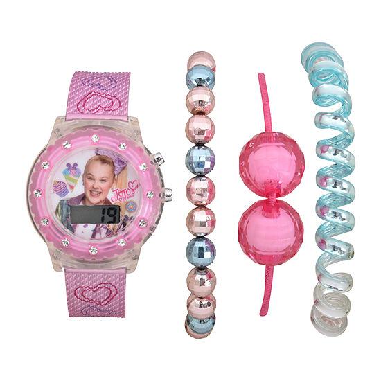 Jojo Siwa Girls Digital Pink Watch Boxed Set-Joj40074jc
