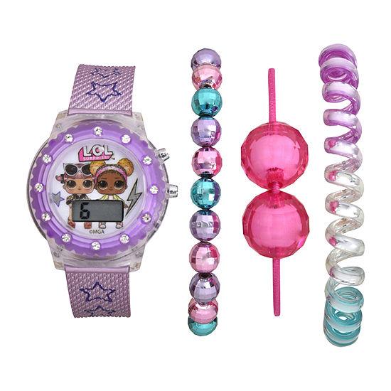 LOL Surprise! Girls Digital Purple 4-pc. Watch Boxed Set-Lol40070jc