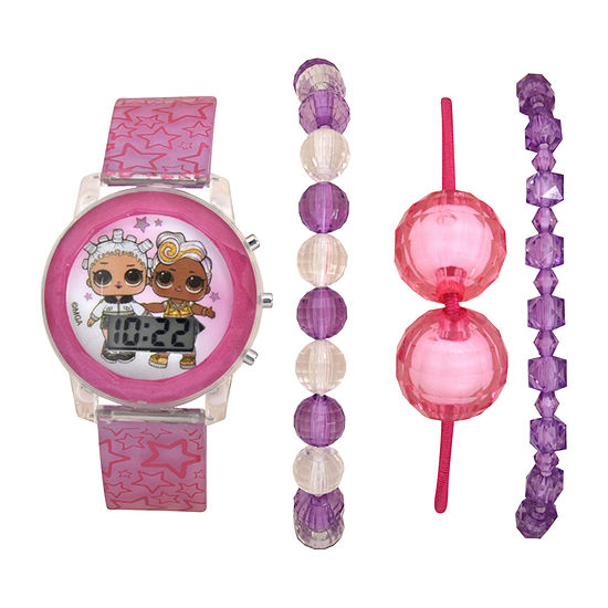 LOL Surprise! Girls Digital Pink 4-pc. Watch Boxed Set-Lol40069jc