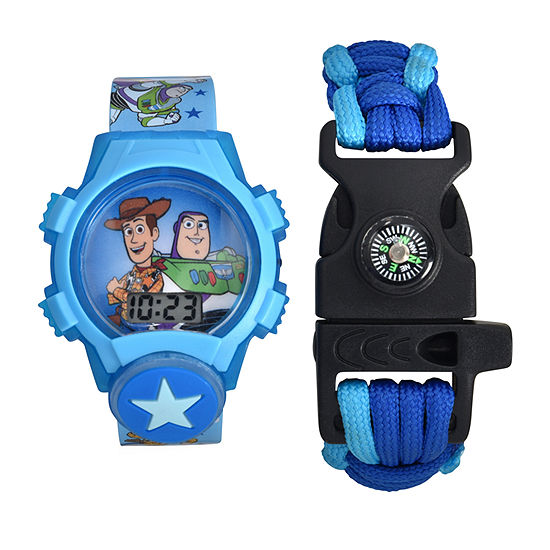 Disney Boys Digital Blue Watch Boxed Set-Tym40012jc