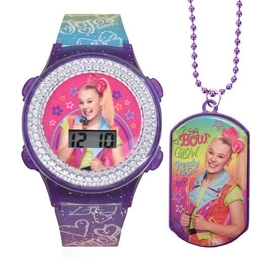 Jojo Siwa Girls Digital Multicolor Watch Boxed Set-Joj40059jc