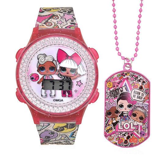 LOL Surprise! Girls Digital Multicolor Watch Boxed Set-Lol40064jc