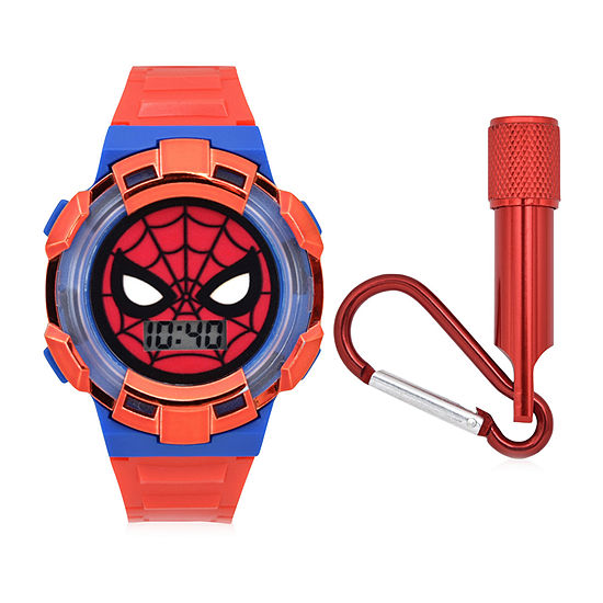 Marvel Spiderman Boys Digital Red 2-pc. Watch Boxed Set-Spd40026jc