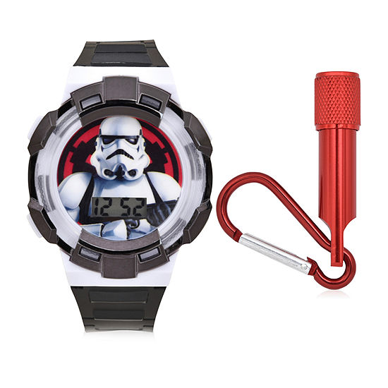 Star Wars Boys Digital Black 2-pc. Watch Boxed Set-Stm40010jc