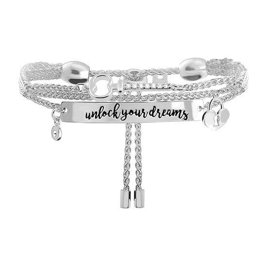 Sparkle Allure Dreams Cubic Zirconia 8 Inch Link Chain Bracelet