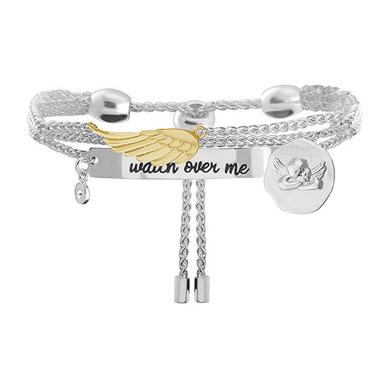 Sparkle Allure Angel Cubic Zirconia 8 Inch Link Chain Bracelet