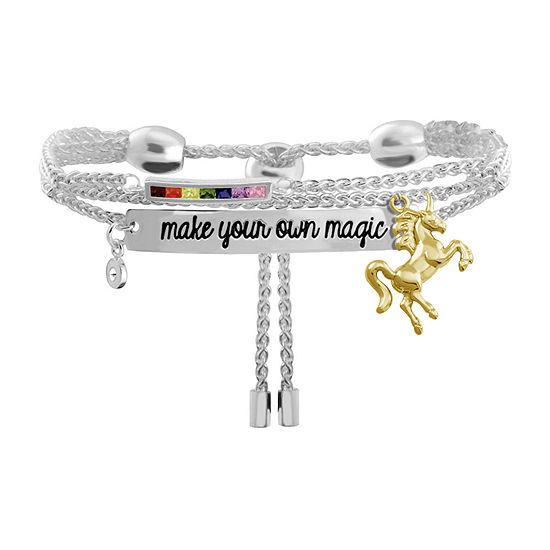 Sparkle Allure Cubic Zirconia 8 Inch Link Chain Bracelet