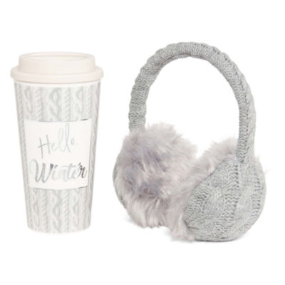 Mixit Mommy and Me Cozy Ear Warmer and Travel Mug Set