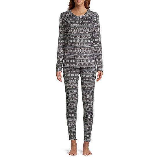 Ambrielle Womens-Talls Pant Pajama Set 3-pc. Long Sleeve
